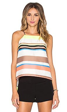 MILLY Stripe Trapeze Cami in Multi