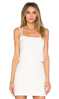 Emery Cross Back Tank Top in White