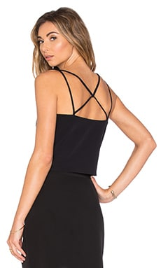 Emery Cross Back Tank in Black