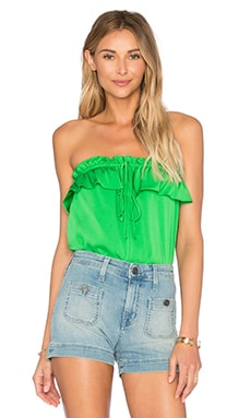 MILLY April Strapless Top in Green
