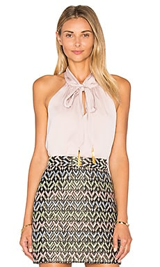 MILLY Tassel Halter Top in Petal