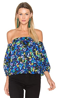 Jewel Satin Off Shoulder Blouse in Multi