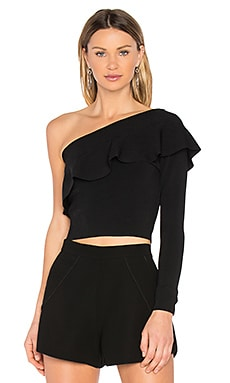 Flounce Top in Black