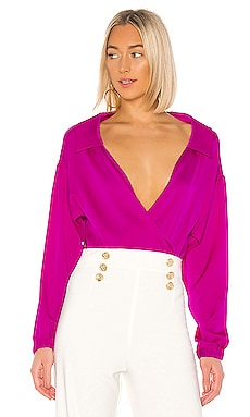 Wrap Top Bodysuit MILLY $350