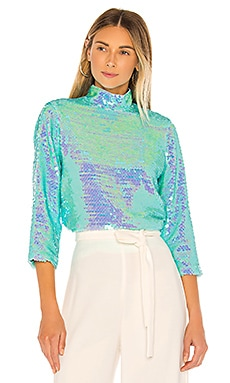 Sequin Turtleneck MILLY $295 NEW ARRIVAL