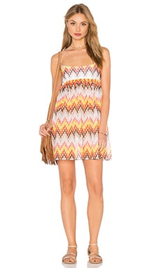 MILLY Valetta Dress in Fluo Melon Multi