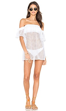 Flutter Sleeve Cover Up en Blanc