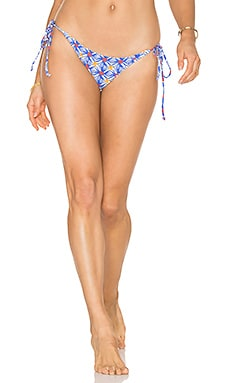 Fiji String Bikini Bottom in Mosaic Print
