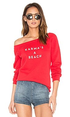 Karmas A Beach Sweatshirt in Red