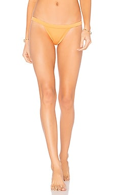 Italian Solid Cheeky Bikini Bottom in Creamsicle