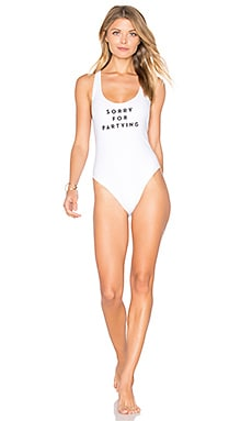 Sorry For Partying One Piece in White
