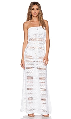 MILLY Pahala Crochet Maxi Dress in White