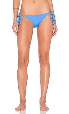 MILLY Italian Solid Mediterranean Bikini Bottom in Sky