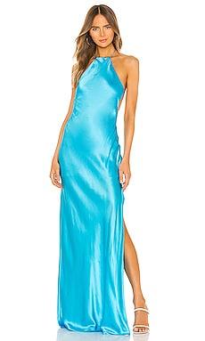 Halter Maxi Dress Michael Lo Sordo $223