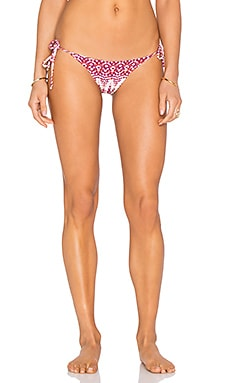Mia Marcelle Side Tie Bikini Bottom in Red Multi