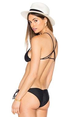 Mia Marcelle Double U Back Bikini Top in Black