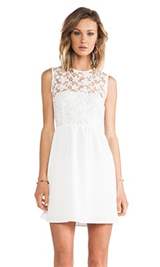 Lace Top Dress in White