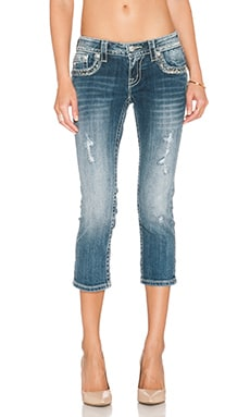 Miss Me Jeans Crop Jean in Med 304