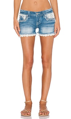 Miss Me Jeans Cut Off Short in Light 108