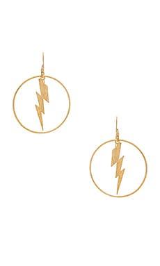 Фото - Серьги enzo - Mimi & Lu цвет металлический золотой