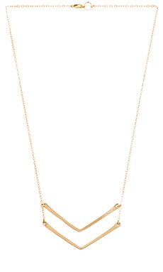 Mimi & Lu Chervon Necklace in Gold