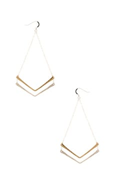 Mimi & Lu Chevron Earring in Silver & Gold