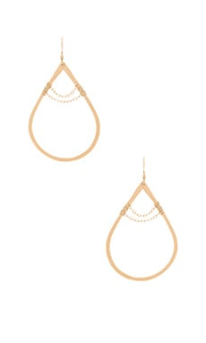 Mimi & Lu Damien Tear Earring in Gold