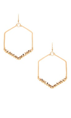 Mimi & Lu Kennedy Hexagon Earring in Gold & Rose Gold