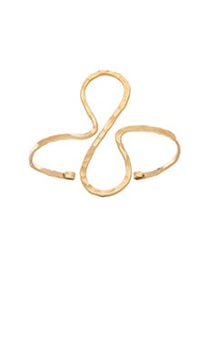 Mimi & Lu Infinity Arm Cuff in Gold
