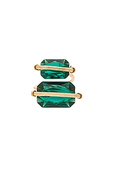 Mimi & Lu Peyton Ring in Emerald & Gold