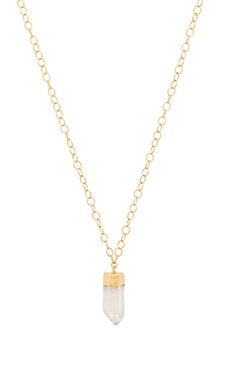 Selma Necklace Quartz Point in Gold