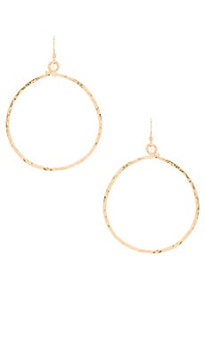 Mimi & Lu Echo Hoop Earrings in Gold