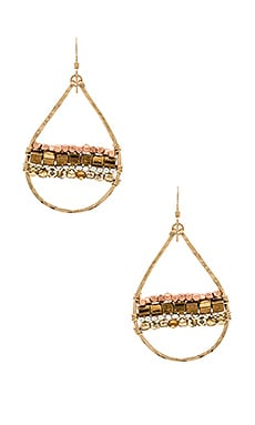 Mimi & Lu Horizon Earrings in Gold