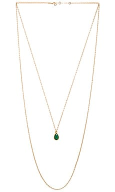 Mimi & Lu Jules Necklace in Green Onyx