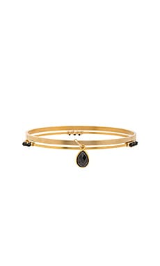 Mimi & Lu Micah Bangle Set in Gold & Black