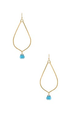 Mimi & Lu Cayla Earrings in Gold & Aqua