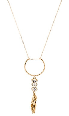 Mimi & Lu Trinity Necklace in Gold & Clear Crystal