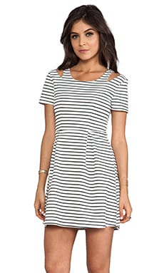 MINKPINK Hello Sailor Dress in White/ Black
