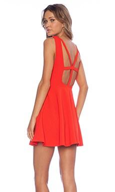 MINKPINK Don't Cross Me Dress in Tomato