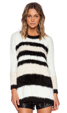 MINKPINK Big Softy Jumper Dress in Multi Neutral