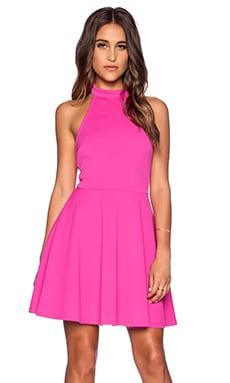 MINKPINK Poetic Justice Halter Dress in Magenta