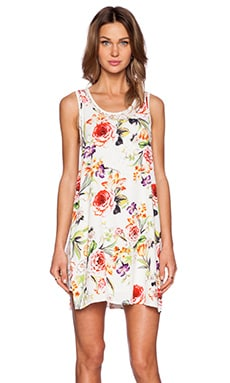 MINKPINK Flowers and Lace Double Layer Tank Dress in Multi