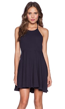 MINKPINK Time Flies Halter Dress in Navy