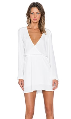 MINKPINK Dream On Cross Front Dress in Off White