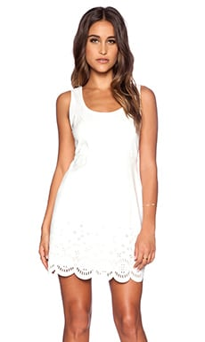 MINKPINK Lackawanna Blues Dress in Chalk White