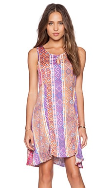 MINKPINK Magenta Carpet Dress in Multi
