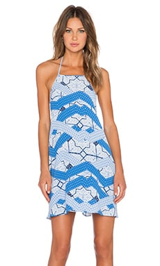 MINKPINK Indigo Waters Halter Dress in Multi