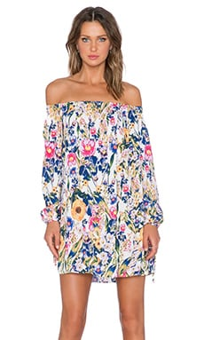MINKPINK Smells Like Summer Off the Shoulder Mini Dress in Multi