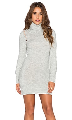 MINKPINK Catch And Kiss Mini Dress in Grey Marle