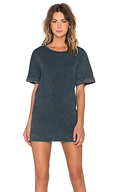 MINKPINK Sunday Runway Denim Tee Dress in Denim Blue